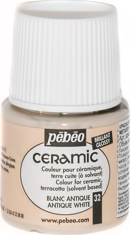 Pebeo Краска по керамике и металлу Ceramic цвет 32 античный белый 45 мл