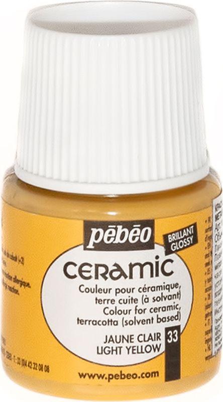 Pebeo Краска по керамике и металлу Ceramic цвет 33 светло-желтый 45 мл