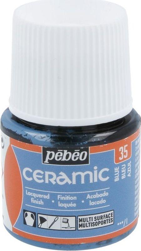 Pebeo Краска по керамике и металлу Ceramic цвет 35 синий 45 мл