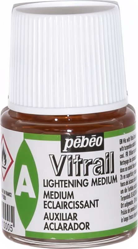 Pebeo Медиум осветляющий (лак-разбавитель) красок Vitrail 45 мл 051-000