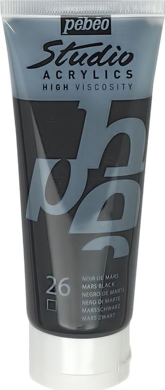 Pebeo Краска акриловая Studio Acrylics цвет 831-026 марс черный 100 мл