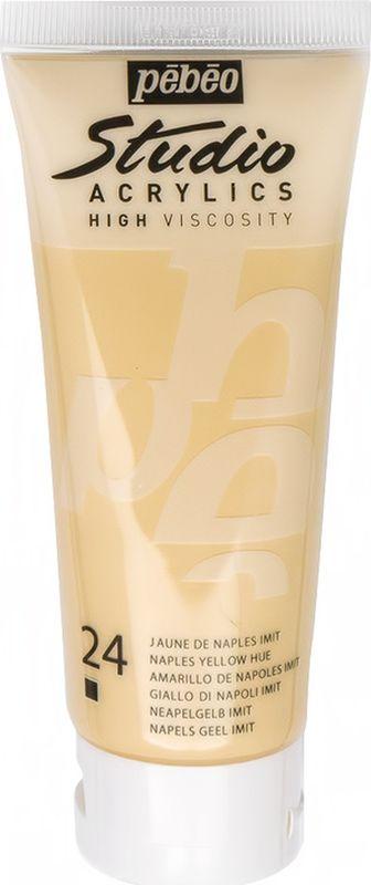 Pebeo Краска акриловая Studio Acrylics цвет 831-024 неаполитанский желтый 100 мл