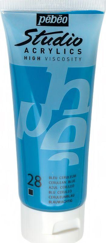 Pebeo Краска акриловая Studio Acrylics цвет 831-028 церулеум синий 100 мл