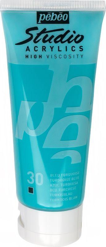 Pebeo Краска акриловая Studio Acrylics цвет 831-030 бирюзовый 100 мл