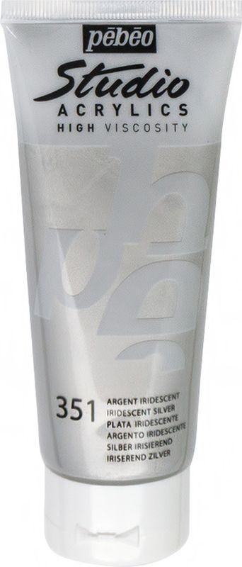 Pebeo Краска акриловая Studio Acrylics Dyna цвет 832-351 серебро иридисцентное 100 мл