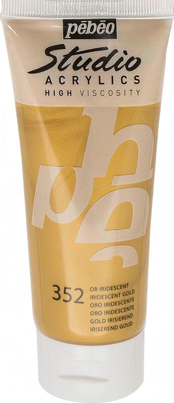 Pebeo Краска акриловая Studio Acrylics Dyna цвет 832-352 золото иридисцентное 100 мл