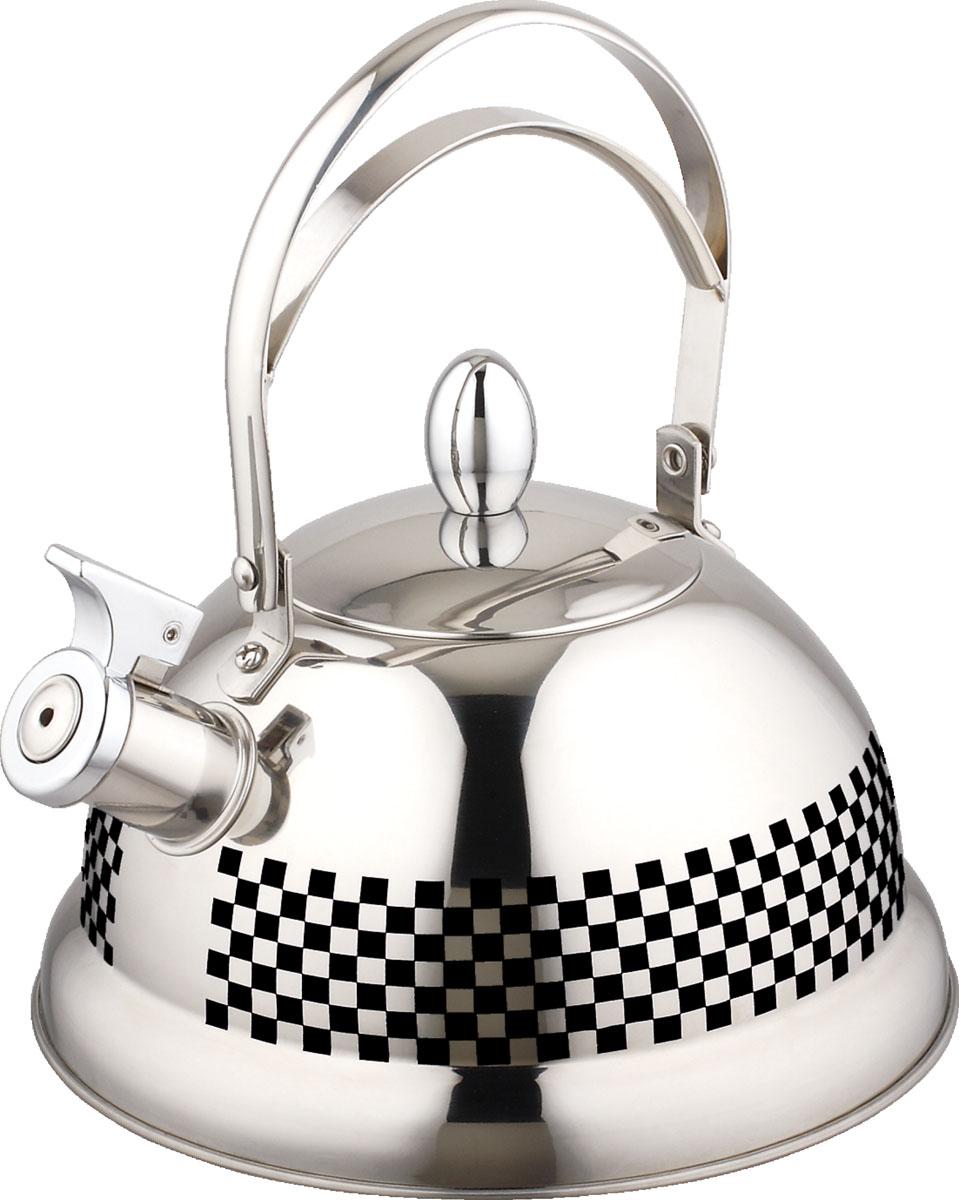 Чайник Bayerhoff, со свистком, цвет: металлик, 2,7 л. BH-424 чайник со свистком bayerhoff bh 425