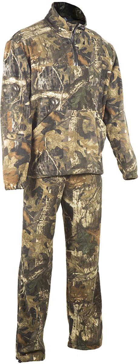 Костюм рыболовный мужской HUNTSMAN Пикник: куртка, брюки, цвет: лес. pc_200-026. Размер 44/46, рост 170pc_200-026Костюм рыболовный Пикник от Huntsman состоит из куртки и брюк, выполненных из флисового материала (Polar Fleece 270 гр/м2). Куртка с воротником-стойкой на молнии до середины груди дополнена двумя накладными карманами. Брюки прямого кроя на поясе с резинкой и шнуром дополнены утяжками по низу брючин. Рекомендуем!