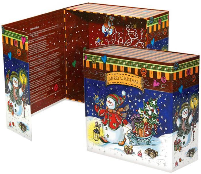 Коробка подарочная Правила Упеха Снеговички, раскладная, 20 х 20 х 9 см коробка подарочная veld co свадебный бабочки цвет слоновая кость 18 х 18 х 26 см