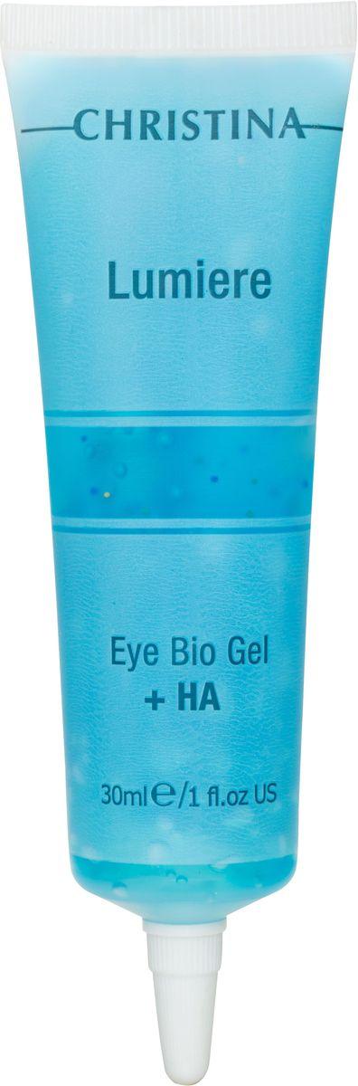 Christina Eye and Neck Bio Gel + HA - Lumiere - Гель для кожи век и шеи с комплексом дерма-витаминов и гиалуроновой кислотой 30 мл christina lumiere eye bio gel ha био гель для кожи вокруг глаз с гиалуроновой кислотой 250 мл