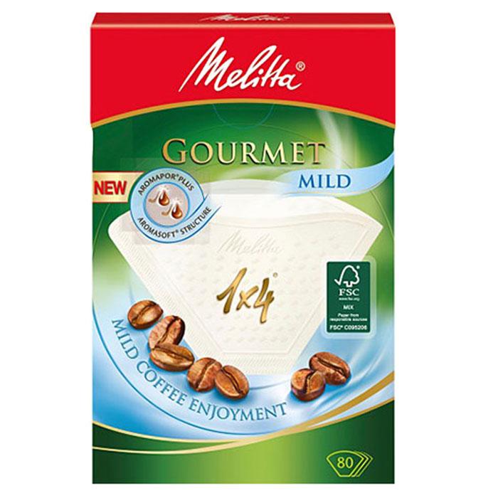 Melitta Gourmet Mildфильтры для заваривания кофе, 1х4/80 шт. Melitta