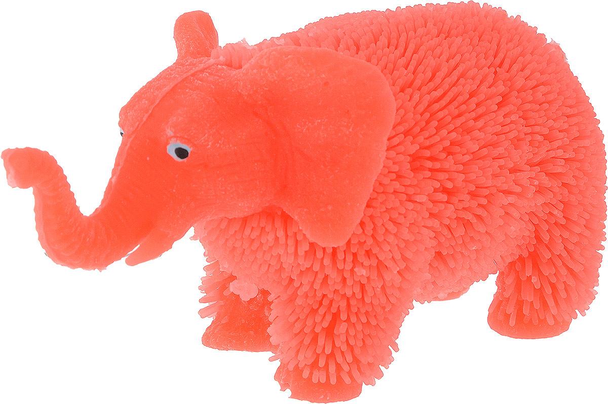 1TOY Антистрессовая игрушка Нью-Ёжики Слоник цвет коралловый