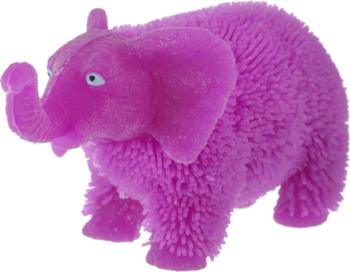 1TOY Антистрессовая игрушка Нью-Ёжики Слоник цвет фиолетовый