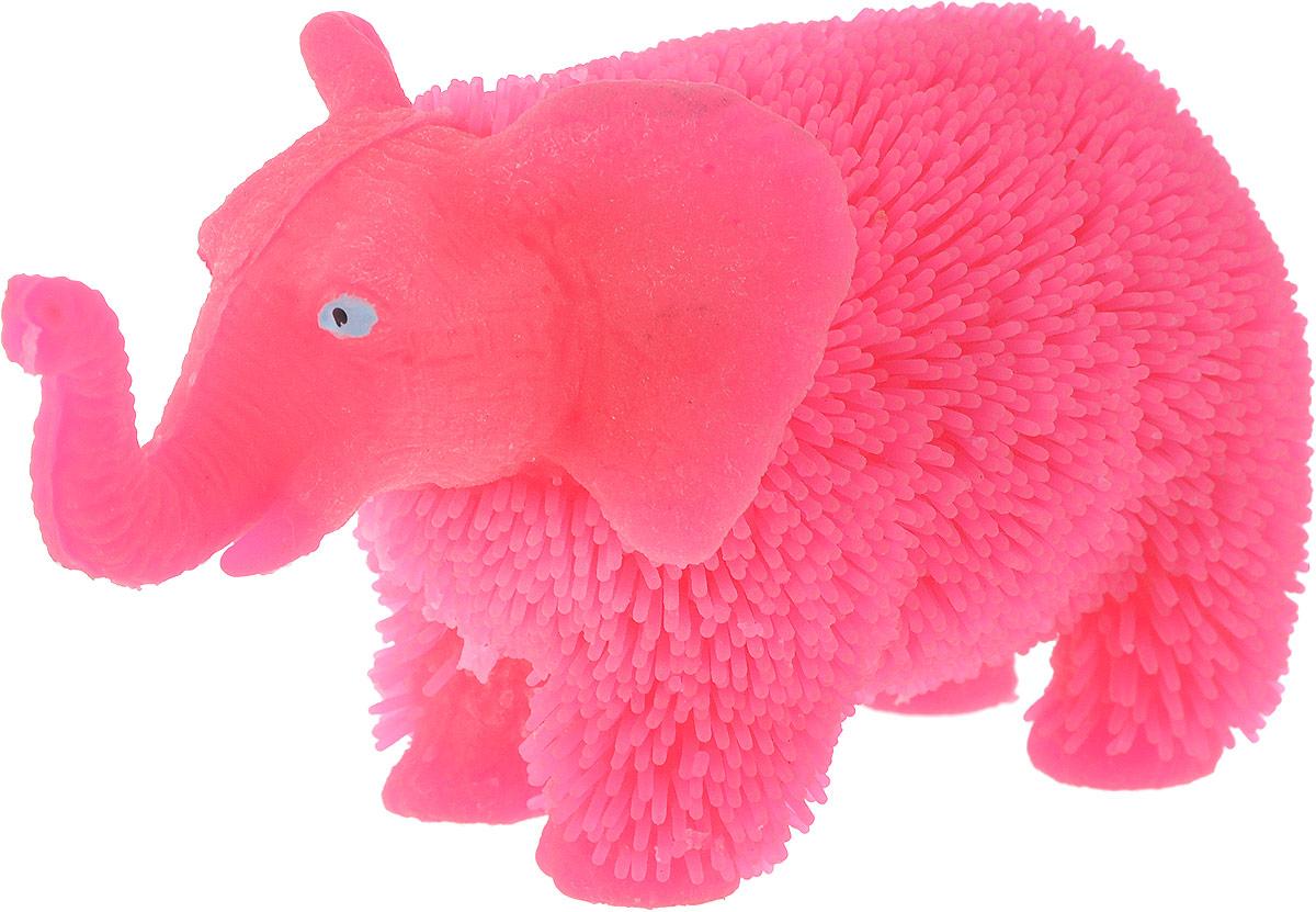 1TOY Антистрессовая игрушка Нью-Ёжики Слоник цвет розовый