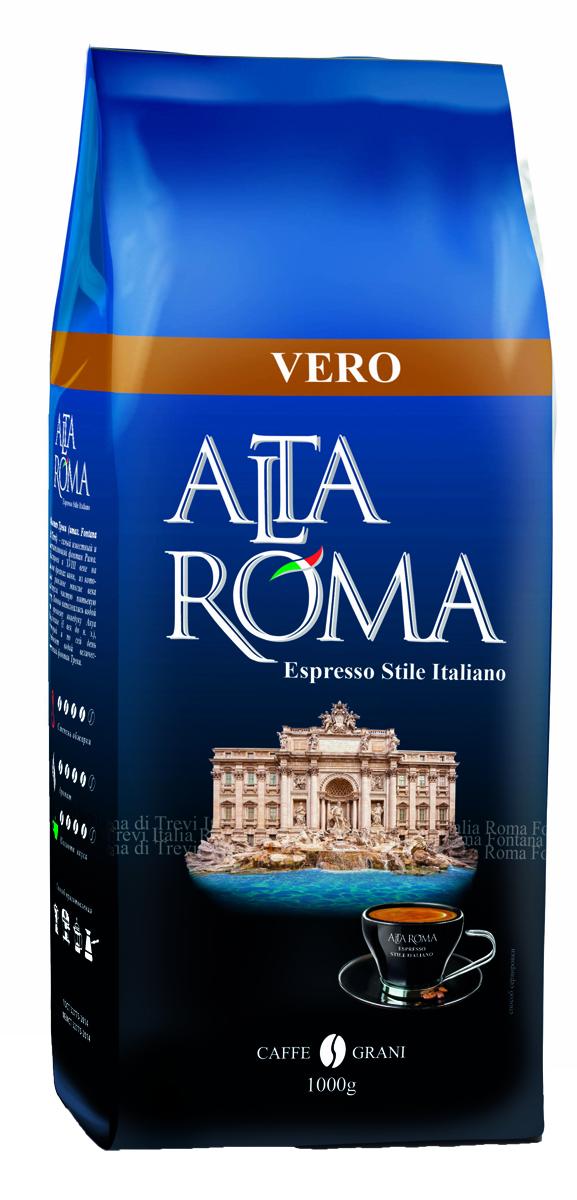 Altaroma Vero кофе в зернах, 1 кг altaroma vero кофе молотый подарочный набор 250 г