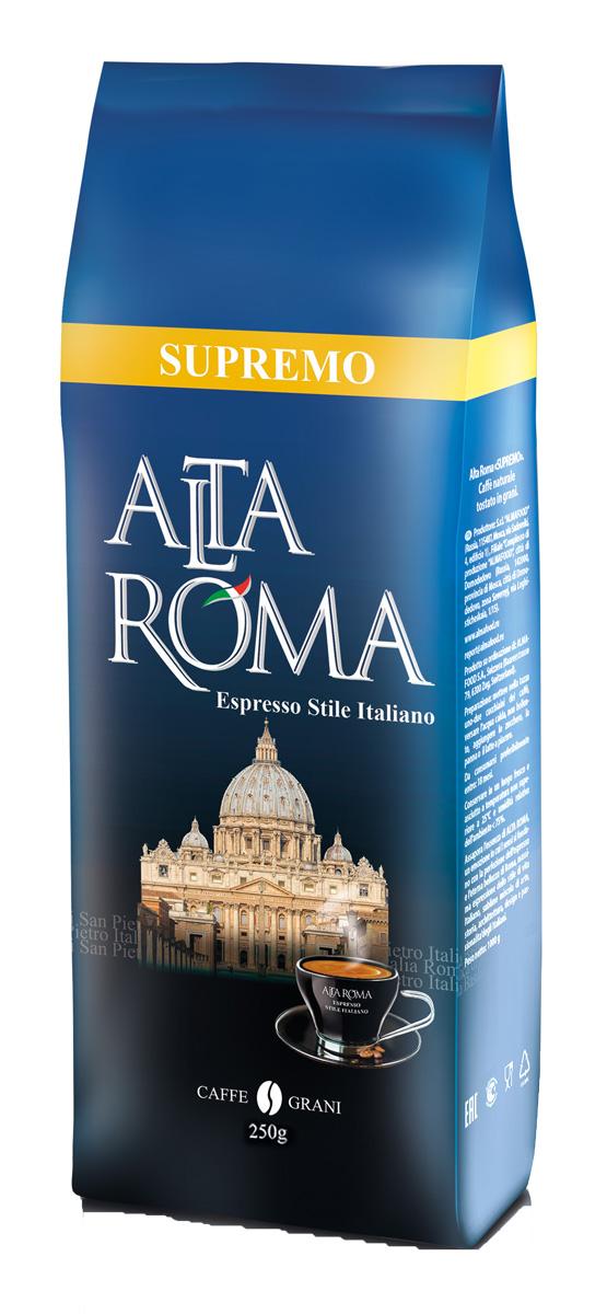 Altaroma Supremo кофе в зернах, 250 г altaroma vero кофе молотый подарочный набор 250 г