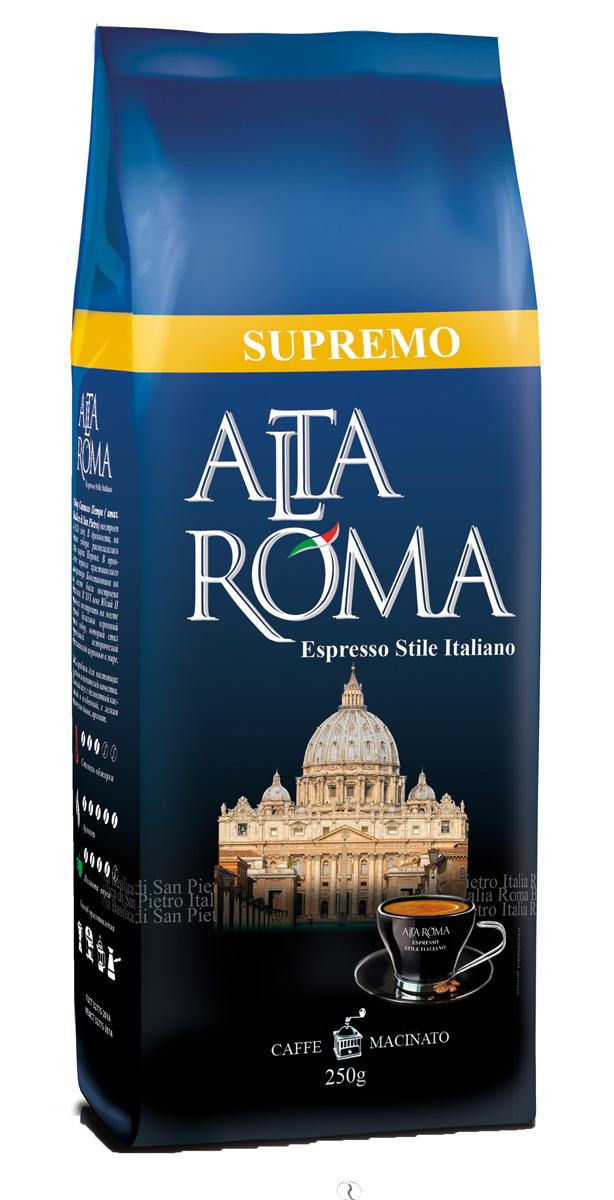 Altaroma Supremo кофе молотый, 250 г altaroma vero кофе молотый подарочный набор 250 г