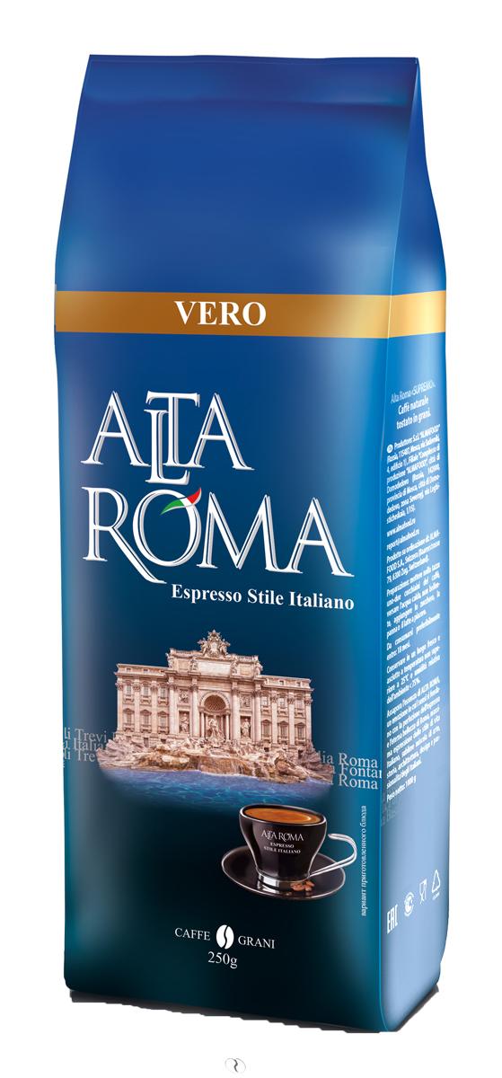 Altaroma Vero кофе в зернах, 250 г altaroma vero кофе молотый подарочный набор 250 г