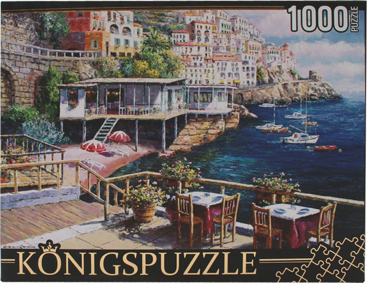 Konigspuzzle Пазл Кафе у моря пазл konigspuzzle 1000 эл 68 5 48 5см маяк у моря мгк1000 6460