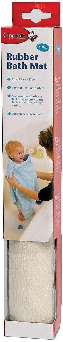 Clippasafe Коврик для ванны цвет белый clippasafe защита для розеток clippasafe белый