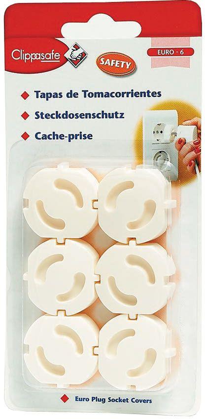 Заглушка для розеток Clippasafe, цвет: белый, 6 шт блокирующие устройства clippasafe защита для розеток 6 шт