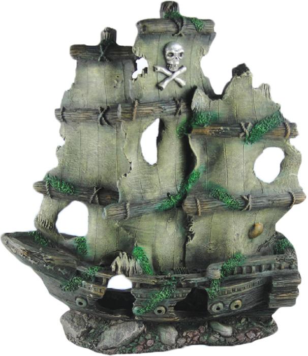 Грот Meijing Aquarium Затонувший пиратский корабль. YM-834B