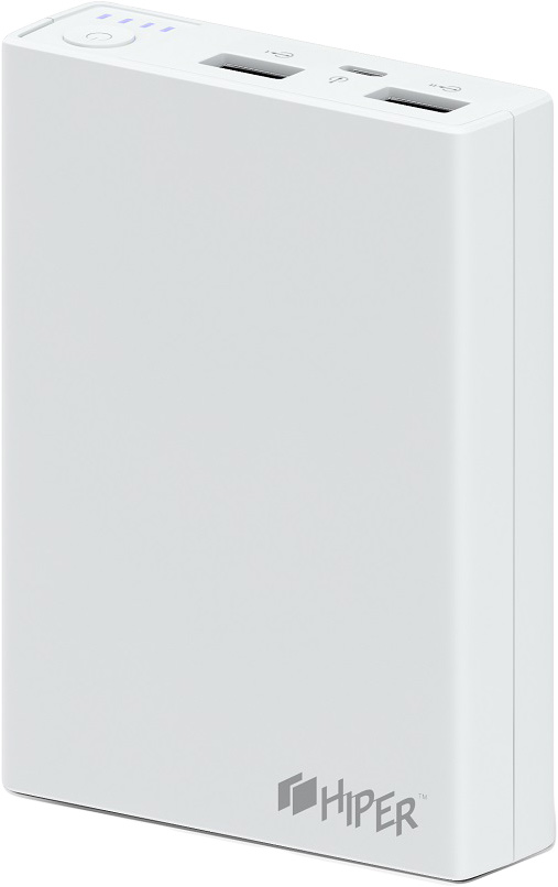 Внешний аккумулятор Hiper Power Bank RP10000, White (10000 мАч) аккумулятор hoco b32 energetic wireless power bank white