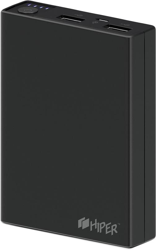 Внешний аккумулятор HIPER Power Bank RP10000, Black (10000 мАч) внешний аккумулятор power bank 8000 мач hiper sx8000 белый