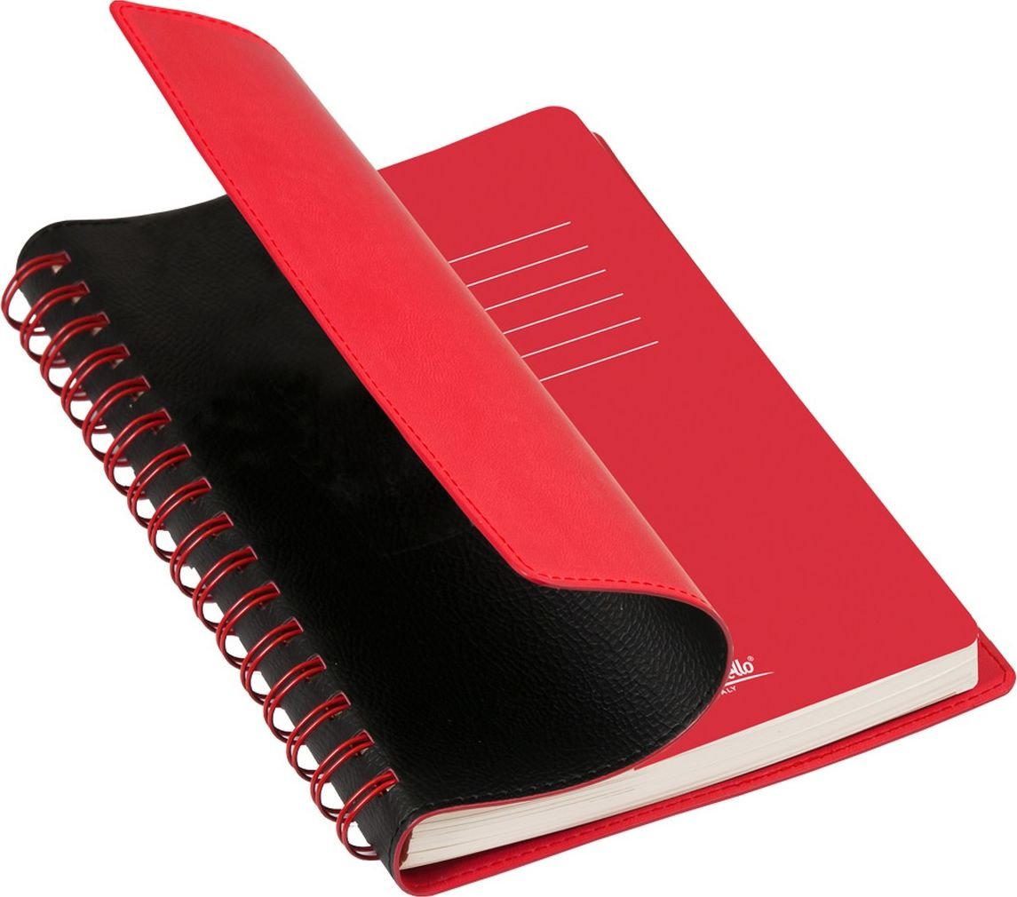 Portobello Trend Ежедневник недатированный Vista 128 листов цвет черный красный