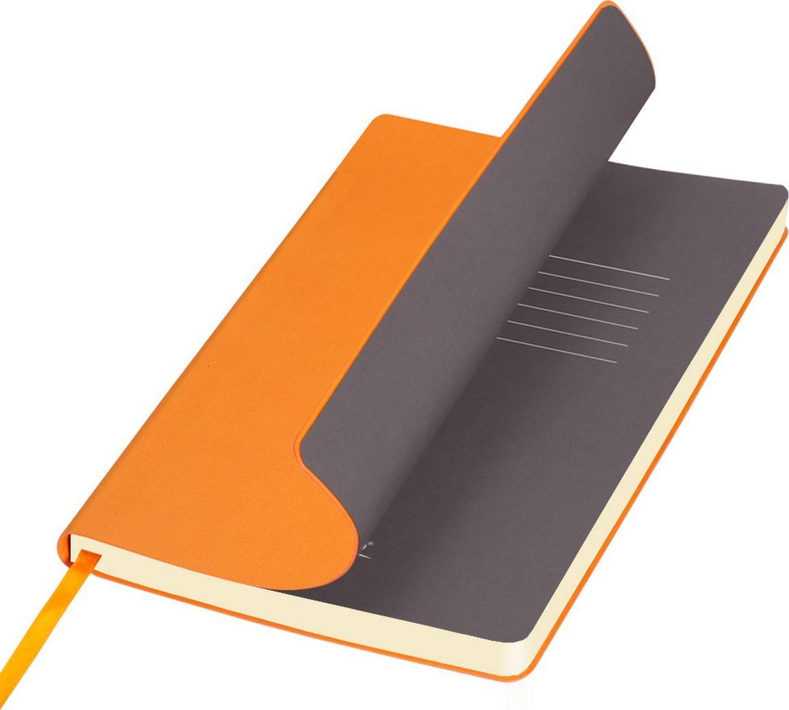 Portobello Trend Ежедневник недатированный Sky 128 листов цвет оранжевый серый