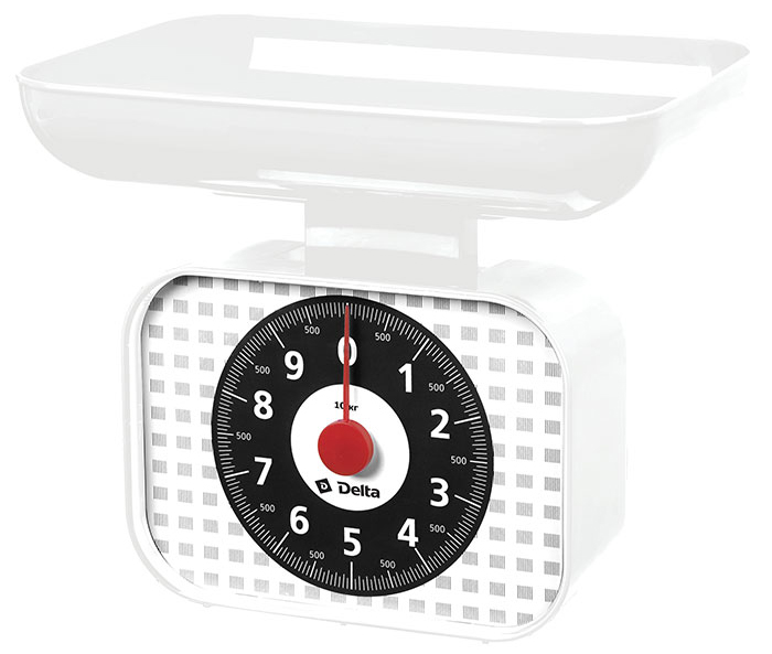 Delta КСА-105, White весы кухонные