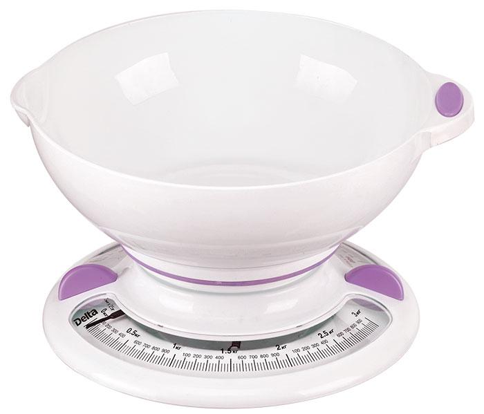 Кухонные весы Delta КСА-103, White Purple Delta