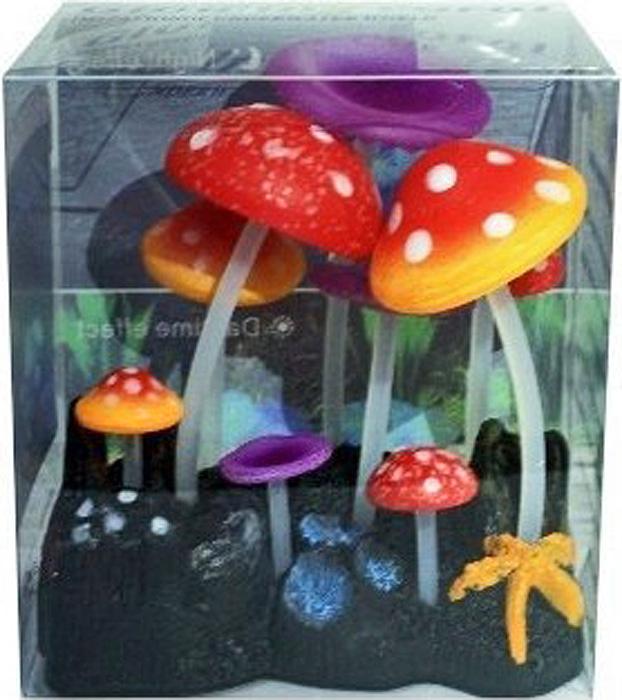 Светящийся декор Meijing Aquarium Грибы. AM0013-3 светящийся декор грибы прозрачные желтые 12 9 9 sh006 y