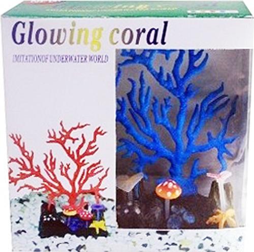 Светящийся коралл Meijing Aquarium Светящийся коралл, цвет: синий. AM0015B светящийся декор грибы прозрачные желтые 12 9 9 sh006 y