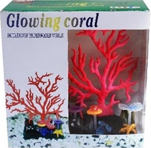 Светящийся коралл Meijing Aquarium Светящийся коралл, цвет: красный. AM0015R