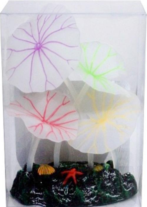 Светящийся декор Meijing Aquarium Грибы. AM0016 светящийся декор грибы прозрачные желтые 12 9 9 sh006 y
