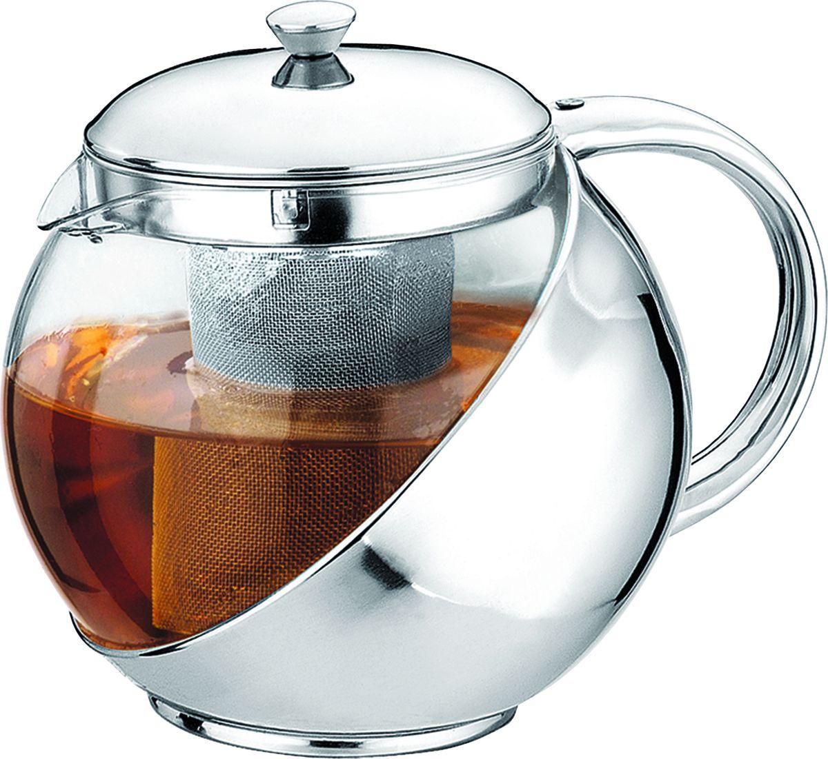 Чайник заварочный Irit, цвет: серебристый, 0,9 л чайник заварочный irit amp 100 2200 вт белый 1 7 л пластик