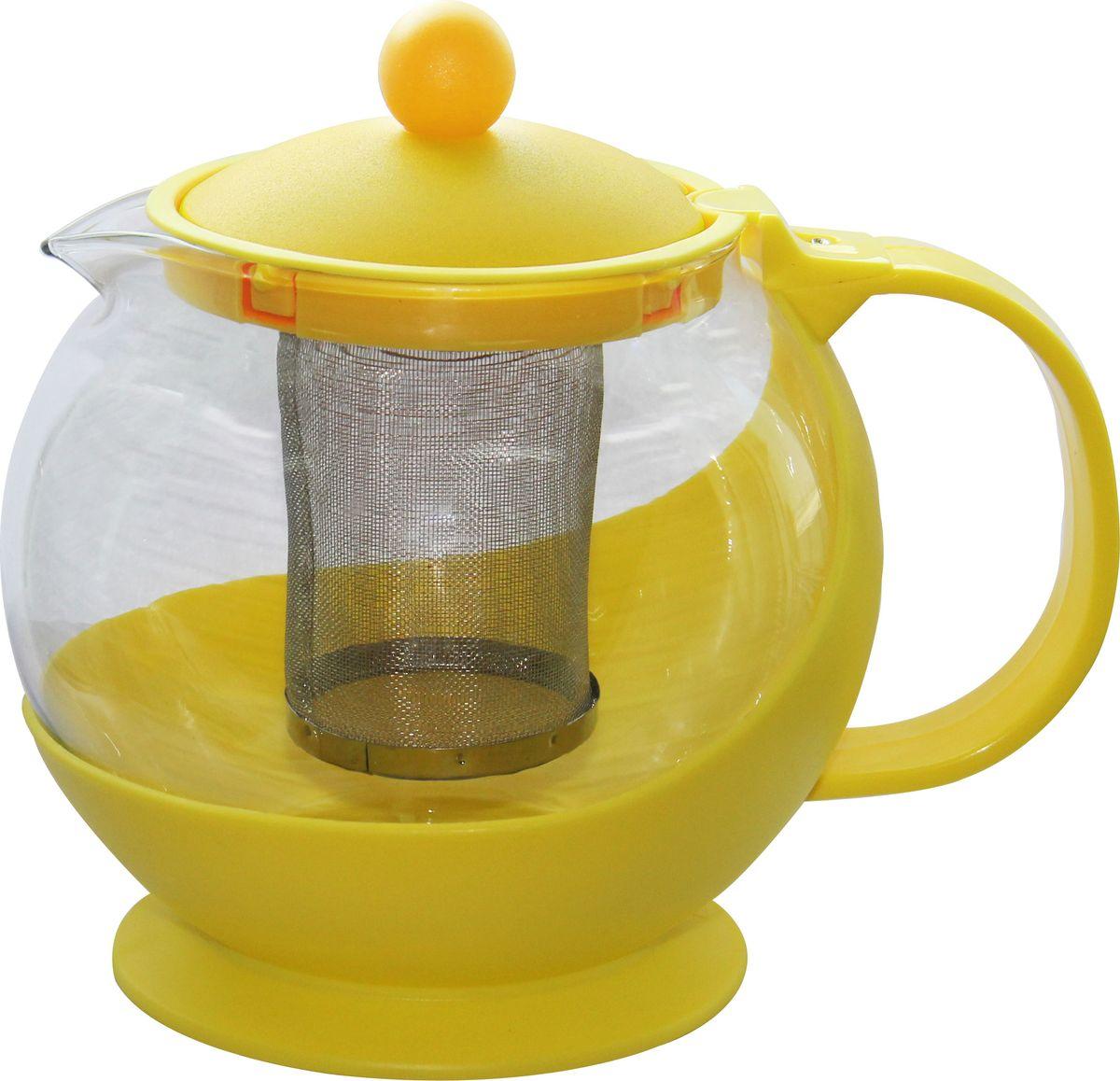 Чайник заварочный Irit, цвет: желтый, 1,25 л чайник заварочный irit amp 100 2200 вт белый 1 7 л пластик