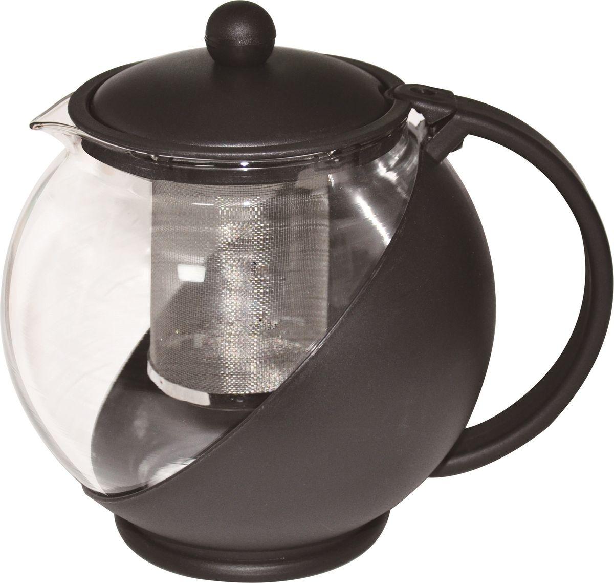 Чайник заварочный Irit, цвет: черный, 1,25 л чайник заварочный irit amp 100 2200 вт белый 1 7 л пластик