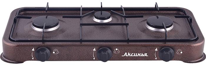 Настольная плита Аксинья КС-103, Brown газовая