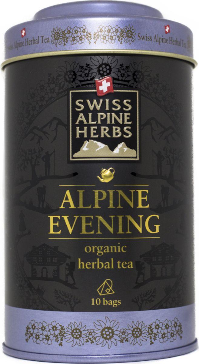 Swiss Alpine Herbs травяной чай для сладких снов в пакетиках, 10 шт чай swiss alpin herbs травяной альпийский гламур 14 пакетиков для чайника