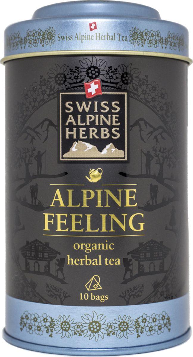 Swiss Alpine Herbs травяной чай альпийское настроение в пакетиках, 10 шт чай swiss alpin herbs травяной альпийский гламур 14 пакетиков для чайника
