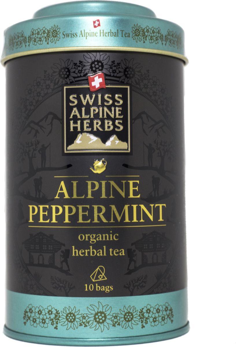 Swiss Alpine Herbs травяной чай мята перечная в пакетиках, 10 шт чай swiss alpin herbs травяной альпийский гламур 14 пакетиков для чайника