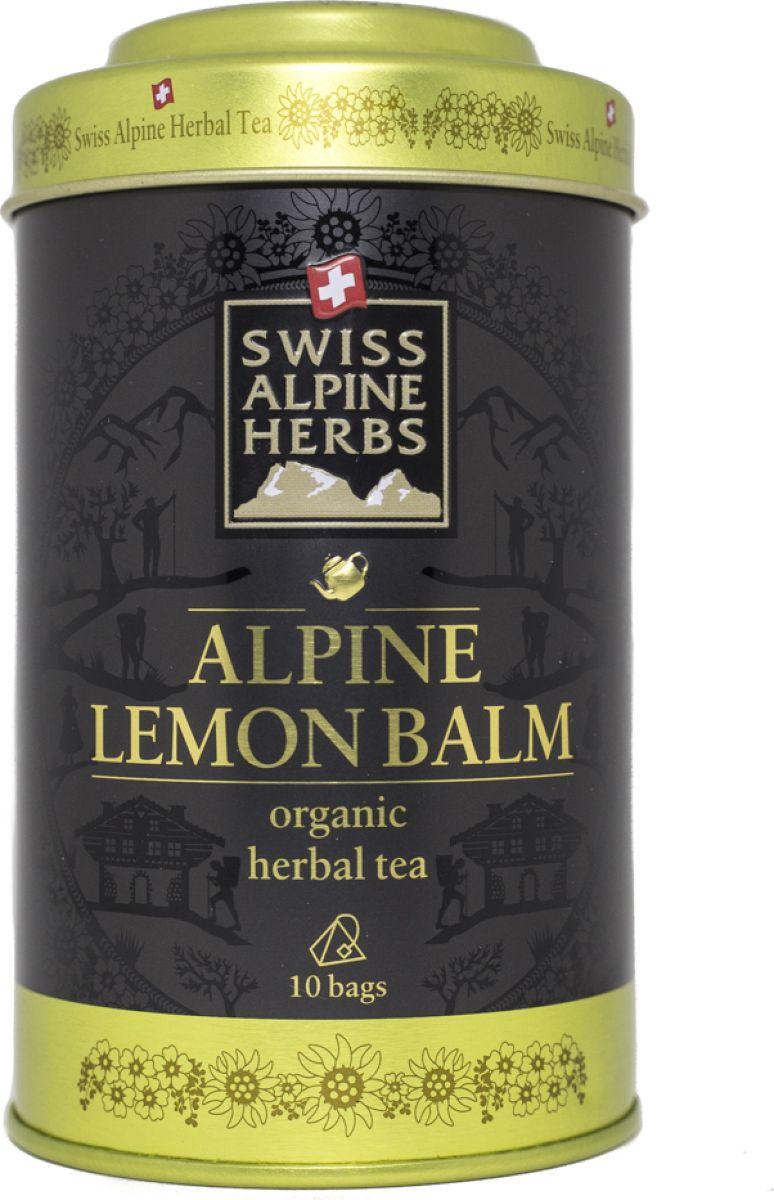 Swiss Alpine Herbs травяной чай мелисса лимонная в пакетиках, 10 шт чай swiss alpin herbs травяной альпийский гламур 14 пакетиков для чайника