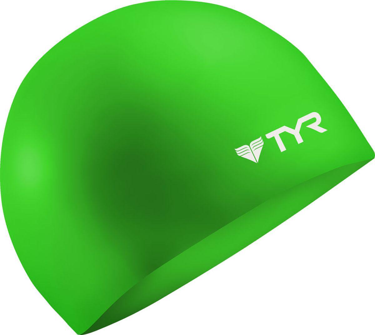 Шапочка для плавания Tyr Wrinkle Free Silicone Cap, цвет: зеленый. LCSLCSСиликоновая шапочка TYR Wrinkle Free – изготовлена из высококачественного материала устойчивого к воздействию хлорированной воды, что гарантирует долгий срок службы. Материал шапочки не вызывает раздражения кожи и других аллергических реакций. Прекрасный вариант для тренировок в бассейне.