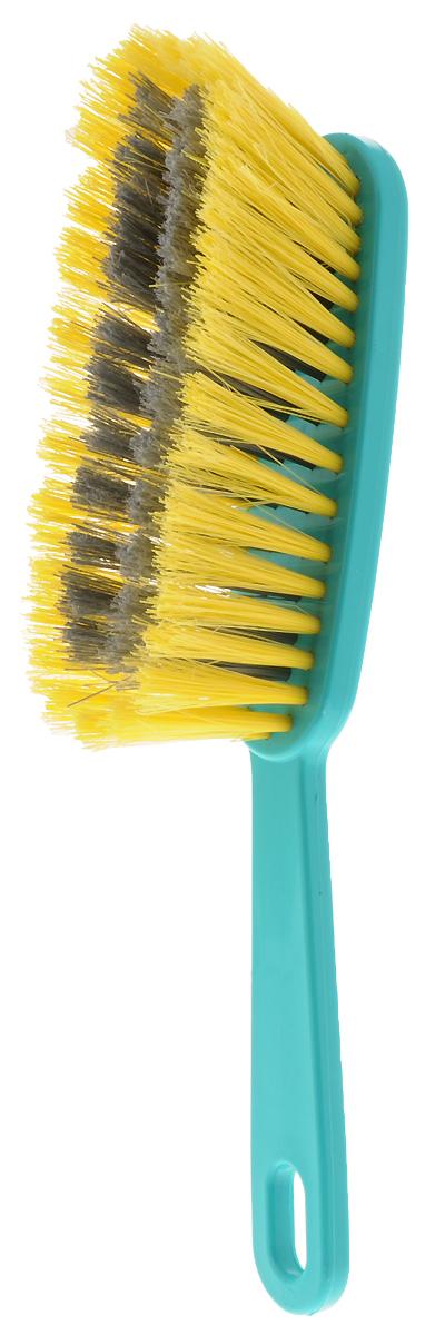 Щетка-сметка Хозяюшка Мила Жасмин, цвет в ассортименте, 28 х 4,5 х 6 см швабра хозяюшка мила с телескопической ручкой и отжимом цвет в ассортименте kf 02