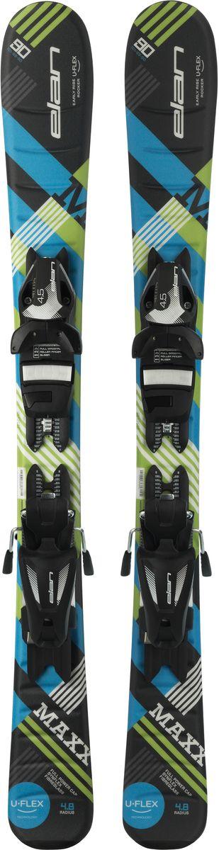 """Лыжи горные детские Elan """"Maxx QS"""", с креплениями, цвет: черный, рост 70 см"""