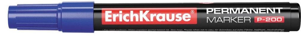 Перманентный маркер ErichKrause P-200, цвет чернил синий