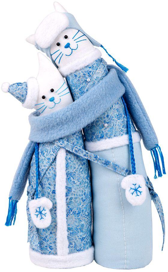 """Набор для создания игрушки Miadolla """"Коты-обнимашки зимние"""", 29 см"""