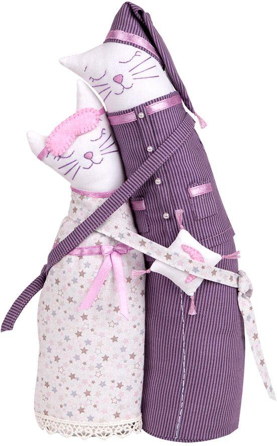 """Набор для создания игрушки Miadolla """"Коты-обнимашки пижамные"""", высота 29 см"""